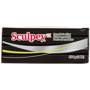Sculpey® III Oven-Bake Clay Black; Color: Black/Gray; Size: 1 lb; Type: Oven Bake; (model S31042), price per each