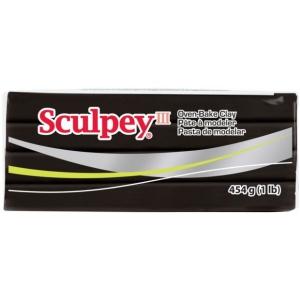 Sculpey® III Oven-Bake Clay Black: Black/Gray, 1 lb, Oven Bake, (model S31042), price per each