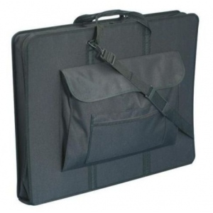 "Prestige™ Elegance™ Heavy-Duty Art Portfolio 24"" x 36""; Color: Black/Gray; Gusset Size: 4""; Material: Nylon; Size: 24"" x 36""; (model CHP43725), price per each"
