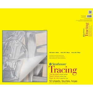 """Strathmore® 300 Series 19"""" x 24"""" Tape Bound Tracing Pad; Binding: Tape Bound; Format: Pad; Quantity: 50 Sheets; Size: 19"""" x 24""""; Texture: Smooth; Weight: 25 lb; (model ST370-19), price per 50 Sheets pad"""