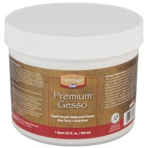Heritage Arts™ Premium Gesso Medium Quart; Format: Tub; Size: 1 qt; Type: Gesso; (model AHP-Q), price per each