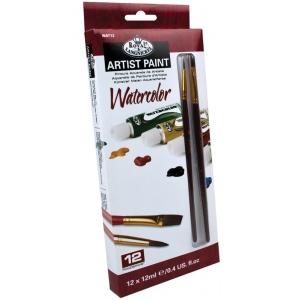 Royal & Langnickel® 12-Color Watercolor Paint Set: Multi, Tube, 12 ml, Watercolor, (model RWAT12), price per set
