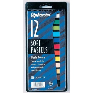 Alphacolor® Soft Pastels Basic 12-Color Set; Color: Multi; Format: Stick; Type: Soft; (model QT105007), price per set