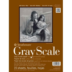 "Strathmore 400 Series Glue Bound Gray Scale Pad: 12"" x 18"", 15-Sheet"