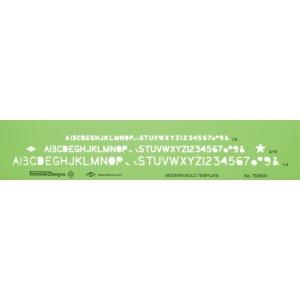 """Alvin® Modern Bold Lettering Template: 1/4"""" = 1', 1/8"""", 3/16"""", (model TD260V), price per each"""