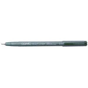 Copic® Multiliner (Disposable) Pen Olive .5mm: Green, Pigment, .5mm, Fine Nib, (model MLO05), price per each