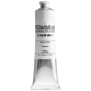 Williamsburg® Handmade Oil Paint 150ml Titanium White: White/Ivory, Tube, 150 ml, Oil, (model 6000101-3), price per each