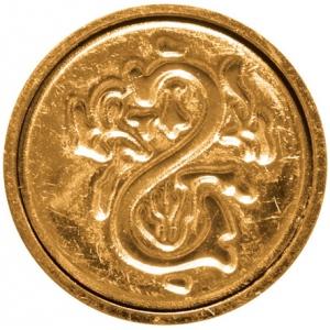"Manuscript Initial Ceramic Mini Seal S: Round, 3/4"", (model MSH725S), price per each"