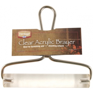 "Heritage Arts™ 6"" Acrylic Brayer; Color: Clear; Diameter: 1""; Material: Acrylic; Size: 6""; (model AB01-6), price per each"