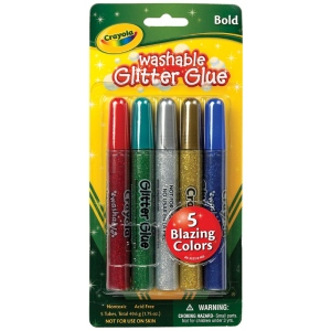 Crayola® Washable Glitter Glue Bold 5-Color Set; Color: Multi; Type: Glitter; (model 69-3522), price per pack