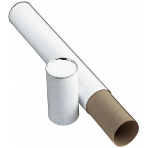 "Alvin® White Fiberboard Tube 3"" I.D. x 25""; Color: White/Ivory; Material: Fiberboard; Size: 3"" x 25""; (model T417-25), price per each"