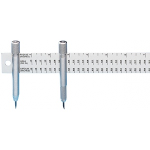 "Alumicolor® 12"" Beam Compass Rule; Circle Diameter Max: 36""; Size: 12""; Type: Compass/Divider; (model 4105-1), price per each"