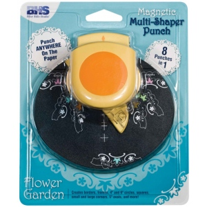 Blue Hills Studio™ Multi-Shaper Magnetic Punch Flower Garden: Border, Circle, Corner, Oval, Square, (model BHS613), price per each