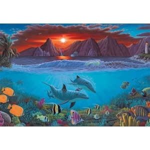 "Royal & Langnickel® Painting by Numbers™ 12 3/4 x 15 3/4 Adult Set Ocean Life: 12 3/4"" x 15 3/4"", (model PAL20), price per set"