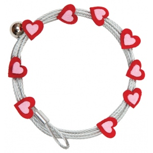"Mishu Mighty Magnet Photo Cable Red Hearts; Color: Red/Pink; Length: 57""; Shape: Heart; Type: Cable; (model M895), price per each"