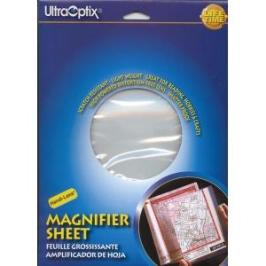 "Ultraoptix® 2x Hard Magnifier Sheet; Magnification: 2x; Size: 8 1/2"" x 11""; Type: Handheld; (model HL-PH), price per each"