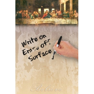 "JOTz SPOTz The Last Supper by DaVinci Dry Erase Image Board; Size: 10"" x 14""; Type: Dry Erase; (model MA8138), price per each"
