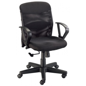 "Alvin® Salambro Jr. Mesh Back Office Height Chair: Arm Rest Included, Black/Gray, No, Under 24"", Fabric, (model CH724), price per each"