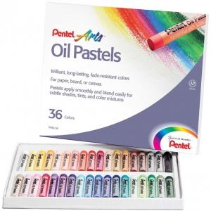 Pentel® Oil Pastel 36-Color Set: Multi, Stick, Oil, (model PHN36), price per set