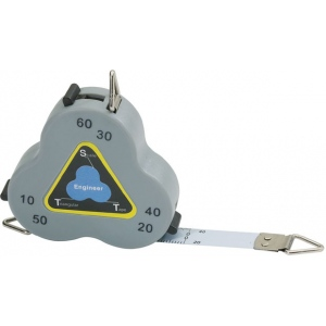 "Triangular Scale Tape Three-Sided Measure Engineer; Color: Metallic; Size: 24""; Type: Tape Measure; (model CB02), price per each"