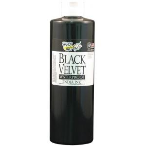 Handy Art 16 oz. Waterproof India Ink; Color: Black/Gray; Format: Bottle; Ink Type: India; Size: 16 oz; (model 401-000), price per each