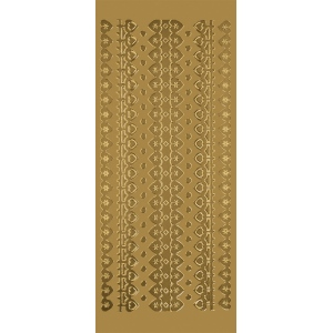 "Blue Hills Studio™ DesignLines™ Outline Stickers Gold #3: Metallic, 4"" x 9"", Outline, (model BHS-DL003), price per pack"