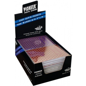 "Pioneer 4"" x 6"" Flexible Cover Photo Album Display: 24-Pieces of FC146"