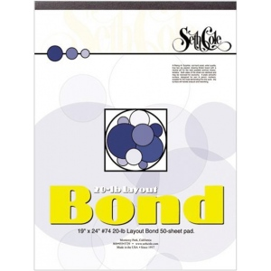 "Seth Cole 9"" x 12"" Layout Bond Paper Pad; Format: Pad; Quantity: 50 Sheets; Size: 9"" x 12""; Weight: 20 lb; (model SC74), price per 50 Sheets pad"
