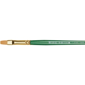 Princeton™ Good Synthetic Sable Watercolor and Acrylic Brush Flat Shader 4; Grade: Good; Length: Short Handle; Material: Synthetic Sable; Shape: Flat Shader; Type: Acrylic, Watercolor; (model 4350FS-4), price per each