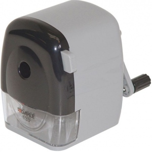 Dahle® Wood Case Pencil Sharpener: Black/Gray, Six, Wood, Manual, (model D133), price per each