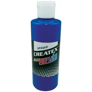 Createx™ Airbrush Paint 4oz Opaque Blue; Color: Blue; Format: Bottle; Size: 4 oz; Type: Airbrush; (model 5201-04), price per each