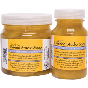 Jack's 4oz. Linseed Studio Soap; Format: Soap; Size: 4 oz; Type: Soap & Cleaners; (model 120740), price per each