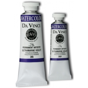 Da Vinci Artist's Watercolor Paint: Ultramarine Violet, 15ml Tube