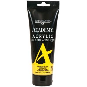 Grumbacher® Academy® Acrylic Paint 200ml Cadmium Yellow Medium Hue: Yellow, Tube, 200 ml, Acrylic, (model GBC034P200), price per tube