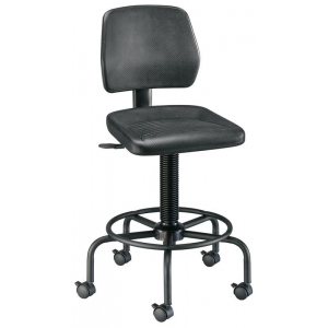 "Alvin® Utility Stool: No, Black/Gray, Foot Ring Included, 24"" - 29"", Under 24"", Plastic, (model DC208), price per each"