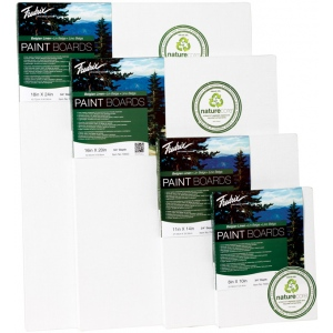 "Fredrix® PRO Paint Boards™ Belgian Linen 8"" x 10"": White/Ivory, Sheet, Linen, 8"" x 10"", Paint Board, (model T70001), price per each"
