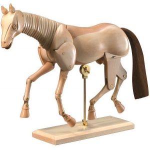 "Heritage Arts™ 12"" Wooden Horse Manikin: Wood, 12"", Mannequin, (model CW401), price per each"