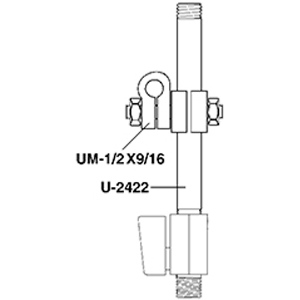 Paasche Mounting Assembly For Models A-AU, A-BU, A-CU or F87