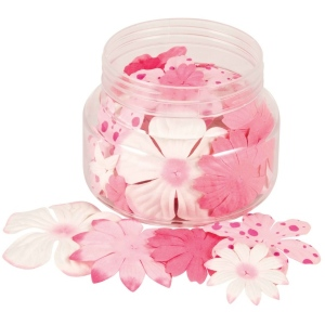 """Pinks; Color: Red/Pink; Material: Paper; Size: 2 1/2""""; Type: Dimensional; (model BHS802), price per each"""