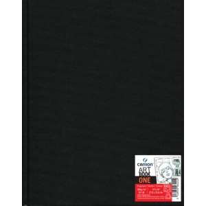"Canson® ArtBook™ ONE 11"" x 14"" Hardbound Sketchbook: Sewn Bound, White/Ivory, Book, Black/Gray, 100 Sheets, 11"" x 14"", Drawing, 67 lb, (model C200006424), price per each"