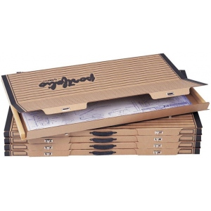 "Safco® Art & Drawing Portfolio 1-1/2 x 44-1/8 x 30-3/4; Color: Brown; Material: Paper; Size: 30 3/4""l x 44 1/8""w x 1 1/2""h; (model 3009F), price per box"