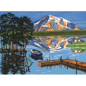 "Reeves™ Large Acrylic Painting By Numbers Set Lake: Multi, 12"" x 15 1/2"", Acrylic, (model PL96), price per each"