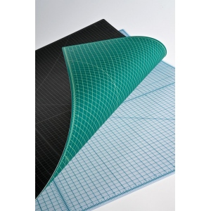"Alvin® TM Series Translucent Professional Self-Healing Cutting Mat 3 1/2 x 5 1/2; Color: Clear; Grid: Yes; Material: Vinyl; Size: 3 1/2"" x 5 1/2""; Thickness: 3mm; Type: Cutting Mat; (model TM2205), price per each"