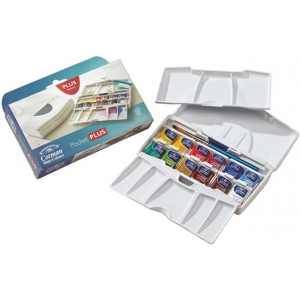 Winsor & Newton™ Cotman™ Watercolor Pocket Plus Set: Multi, Pan, Watercolor, (model 0390373), price per set