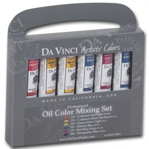 Da Vinci Artists' Oil Color Paint Warm and Cool 6-Color Set: Multi, Tube, 21 ml, Oil, (model DAV1121), price per set