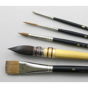 Aquarelle Set of 5 Art Brushes