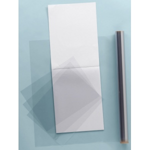 "Grafix® Clear-Lay™ 19"" x 24"" x .005"" Vinyl Film; Color: Clear; Format: Pad; Quantity: 25 Sheets; Size: 19"" x 24""; Thickness: .005""; Type: Film; (model 6302-8), price per 25 Sheets pad"