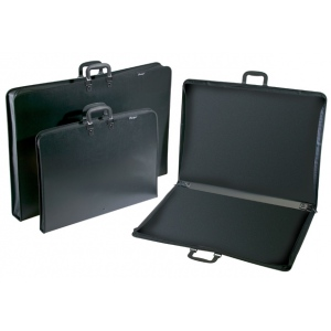 "Prestige™ Studio™ Series Lite Art Portfolio 3"" Gusset 24"" x 36""; Color: Black/Gray; Gusset Size: 3""; Material: Polypropylene; Size: 24"" x 36""; (model PC2436-3), price per each"