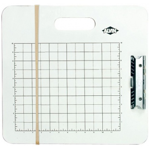 "Heritage Arts™ Gridded Sketch Board 15"" x 16""; Color: White/Ivory; Size: 15 1/2"" x 16 1/2""; Top Material: Masonite; Type: Drawing Board; (model GB1516), price per each"