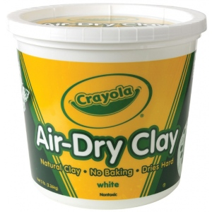 Crayola® Air-Dry Clay 5lb White: White/Ivory, 5 lb, 5 lb, Air Dry, Craft, (model 57-5055), price per each